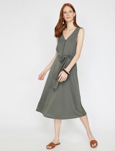 Koton Elbise Yeşil